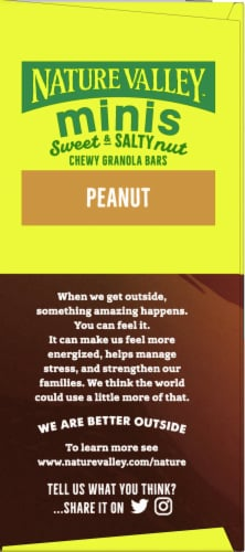 Nature Valley Sweet & Salty Peanut and Almond Butter Mini Granola Bars Perspective: left