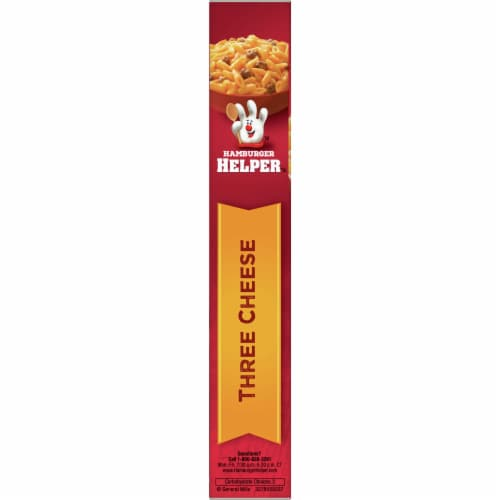 Hamburger Helper Three Cheese Pasta & Cheesy Sauce Mix Perspective: left