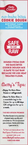 Betty Crocker No-Bake Birthday Cake Cookie Dough Bites Perspective: left