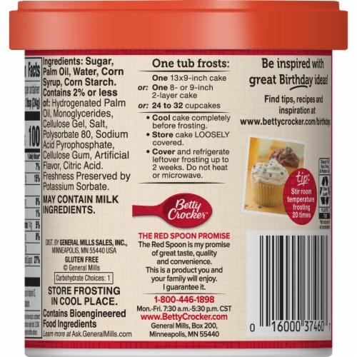 Betty Crocker Whipped Fluffy White Frosting Perspective: left