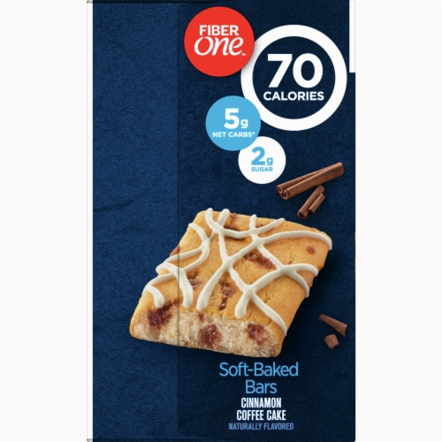Fiber One 70 Calorie Cinnamon Coffee Cake Soft-Baked Bars Value Pack Perspective: left