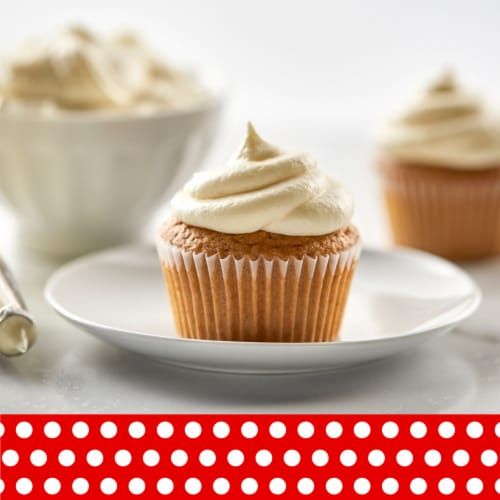 Betty Crocker Rich & Creamy Cream Cheese Frosting Perspective: left