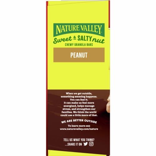 Nature Valley Sweet & Salty Nut Peanut Granola Bars Perspective: left