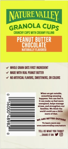 Nature Valley Peanut Butter Chocolate Granola Cups 5 Count Perspective: left
