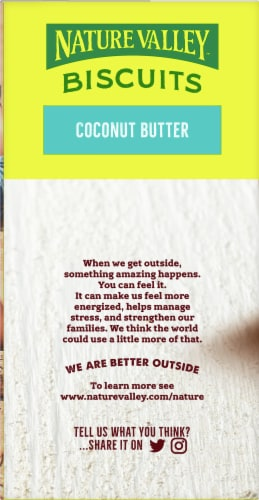 Nature Valley Coconut Butter Biscuits 5 Count Perspective: left