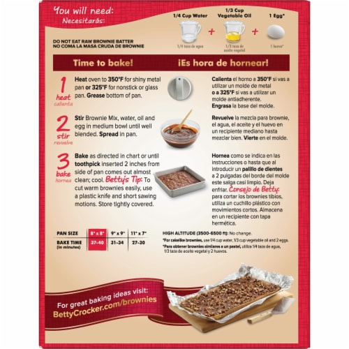 Betty Crocker Delights Supreme Chocolate Chunk Brownie Mix Perspective: left