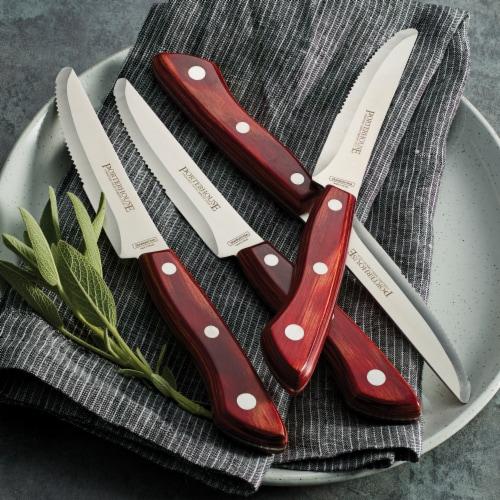 Tramontina Porterhouse Rounded Tip Steak Knife Set Perspective: left