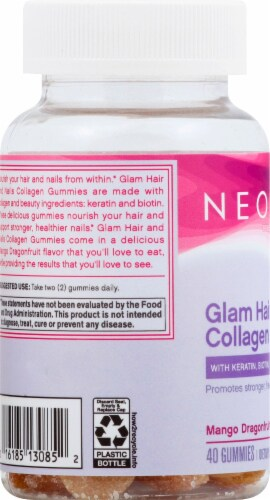 NeoCell Glam Hair & Nails Collagen Gummies Perspective: left