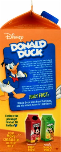 Disney Donald Duck No Pulp 100% Orange Juice Perspective: left