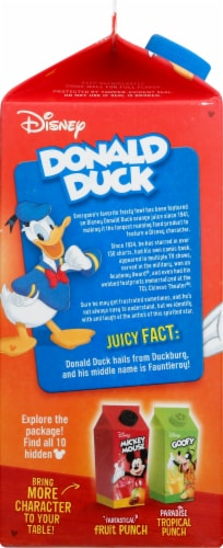 Donald Duck Concentrated Apple Juice Perspective: left