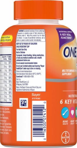 One A Day Women's Formula Multivitamin Tablets Perspective: left