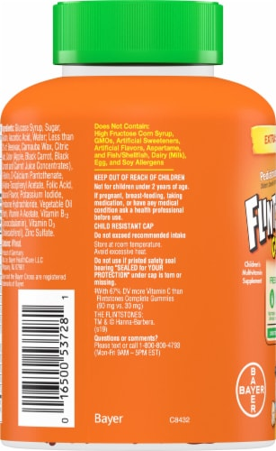 Flintstones Gummies Kids Vitamins with Immunity Support and Vitamin C D B12 Zinc & more Perspective: left