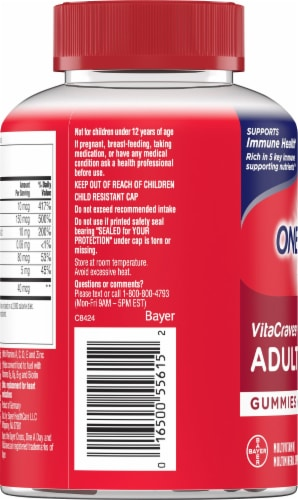 One A Day VitaCraves Adult Multivitamin Gummies Perspective: left