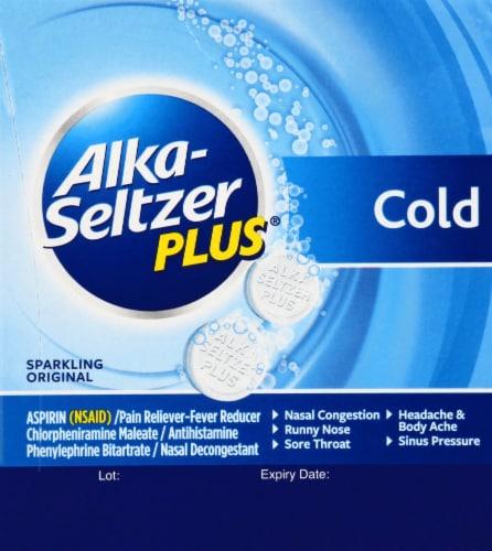 Alka-Seltzer Plus Cold Formula Sparkling Original Effervescent Tablets Perspective: left