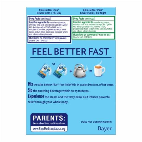 Alka-Seltzer Plus® Honey Lemon Zest Severe Cold & Flu Day & Night Powder Packets Perspective: left