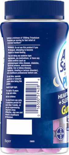 Alka-Seltzer PM Heartburn Relief + Sleep Support Mixed Berry Flavored Gummies Perspective: left