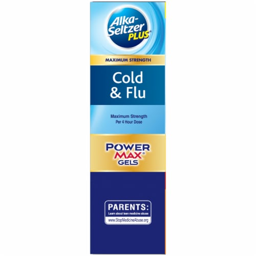 Alka-Seltzer Plus Cold & Flu Non-Drowsy Day & Night PowerMax Liquid Gels Perspective: left
