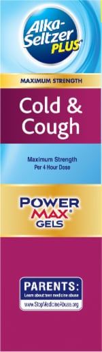 Alka-Seltzer Plus Maximum Strength Cold & Cough PowerMax Liquid Gels Perspective: left