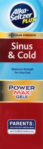 Alka-Seltzer Plus Sinus & Cold PowerMax Gels Perspective: left