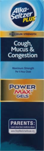 Alka Seltzer Plus® Day and Night Cough Mucus & Congestion Power Max Liquid Gels Perspective: left
