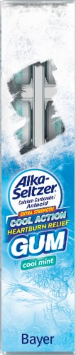 Alka-Seltzer Cool Mint Extra Strength Cool Action Heartburn Relief Gum Perspective: left