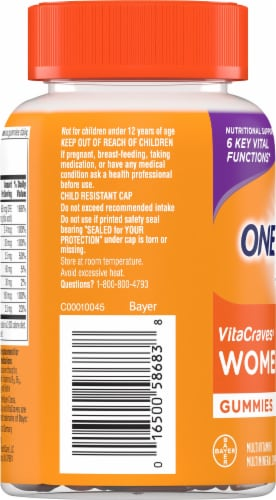 One A Day VitaCraves Women's Multivitamin Gummies Perspective: left