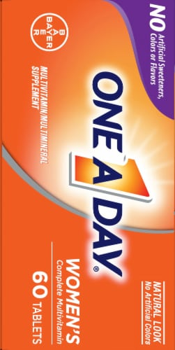 One A Day Women's Complete Multivitamin Tablets Perspective: left