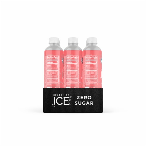 Sparkling Ice Pink Grapefruit Spring Water Perspective: left