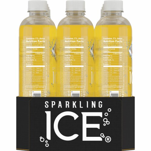 Sparkling Ice Coconut Pineapple Sparkling Water Perspective: left