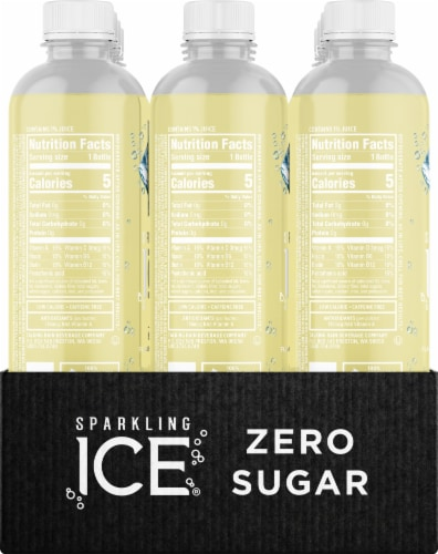 Sparkling Ice Classic Lemonade Sparkling Water Perspective: left