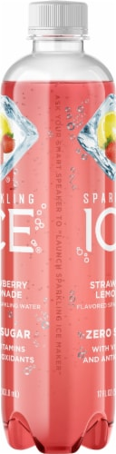 Sparkling Ice Strawberry Lemonade Sparkling Water Perspective: left