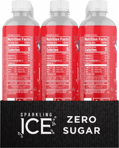 Sparkling Ice Cherry Limeade Sparkling Water Perspective: left