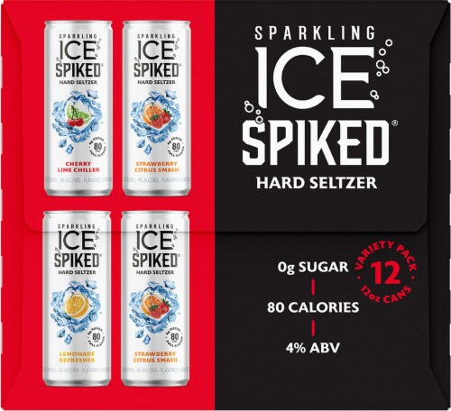 Sparkling Ice Spiked Hard Seltzer Variety Pack Perspective: left