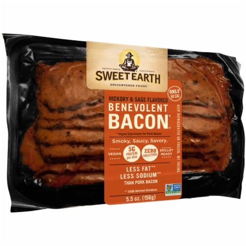 Sweet Earth Natural Foods Vegan Hickory & Sage Smoked Seitan Bacon Perspective: left