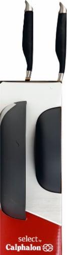 Calphalon Space Saving Hard-Anodized Nonstick Fry Pan Combo - Black Perspective: left