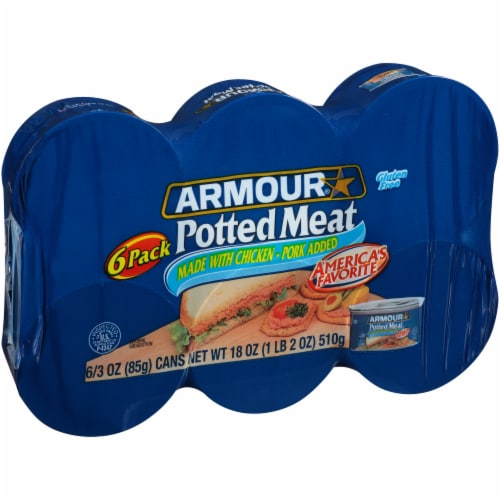 Armour Potted Meat 6 Count Perspective: left
