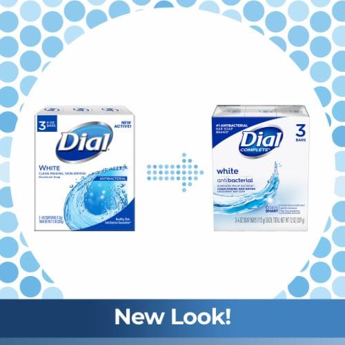 Dial White Antibacterial Deodorant Soap Bars Perspective: left