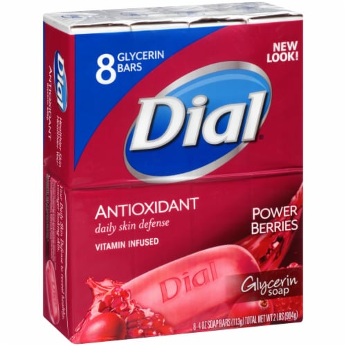 Dial Antioxidant Vitamin Infused Power Berries Glycerin Soap Bars Perspective: left