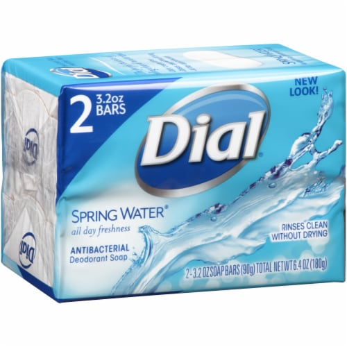 Dial Spring Water Soap Bars Perspective: left