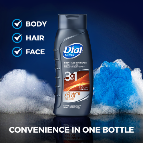 Dial For Men Ultimate Clean Complete Freshness Hair & Body Wash Perspective: left