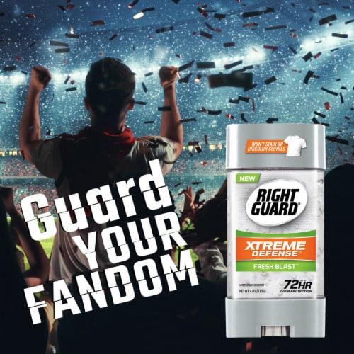 Right Guard Xtreme Defense 5 Fresh Blast Gel Deodorant Perspective: left