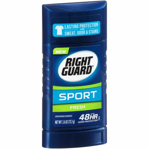 Right Guard 3D Sport Invisible Solid Fresh Deodorant Perspective: left