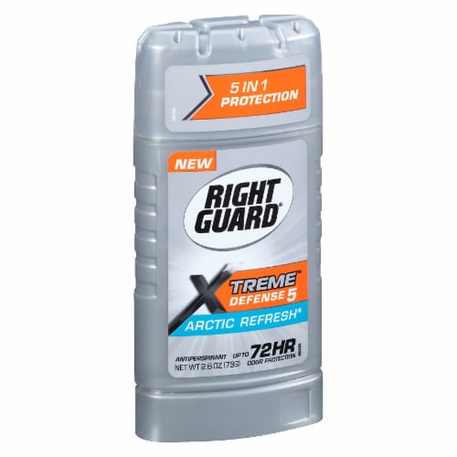 Right Guard Xtreme Defense Arctic Refresh Antiperspirant Stick Perspective: left