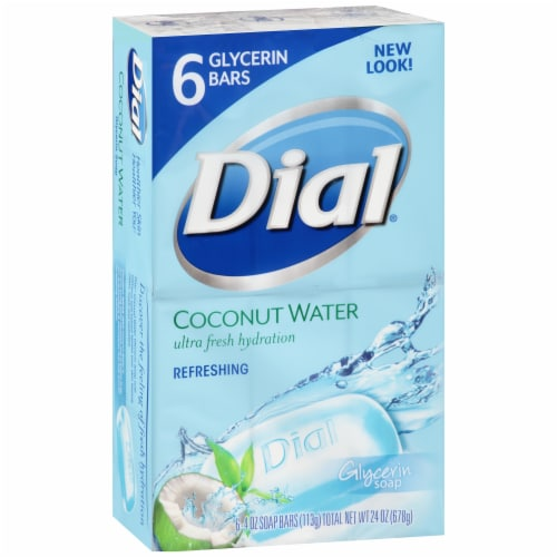 Dial Coconut Water Ultra Fresh Hydration Refreshing Bar Soap Perspective: left