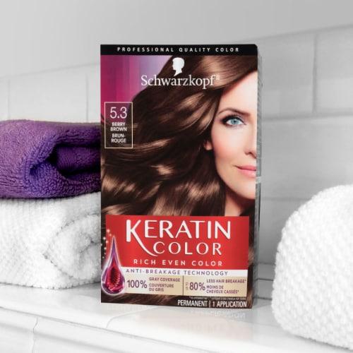 Schwarzkopf Keratin Color Berry Brown 5.3 Hair Color Perspective: left