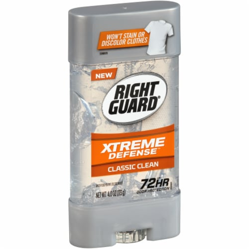 Right Guard Xtreme Defense Classic Clean Deodorant Perspective: left