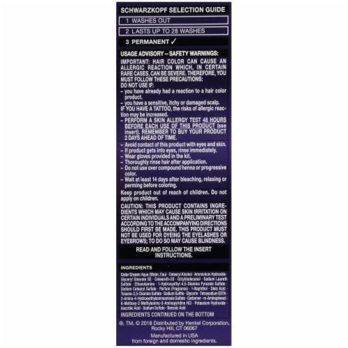Schwarzkopf Color Ultime Metallic Violet Hair Color Perspective: left
