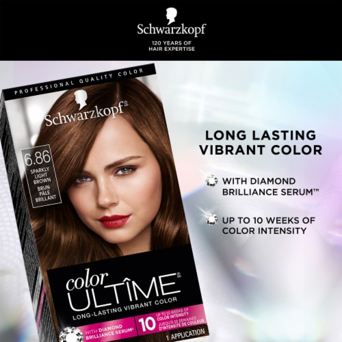 Schwarzkopf Color Ultime Sparkly Light Brown 6.86 Permanent Hair Color Perspective: left