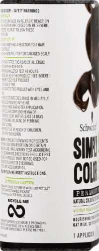 Schwarzkopf Simply Color 6.0 Cool Brown Hair Color Perspective: left