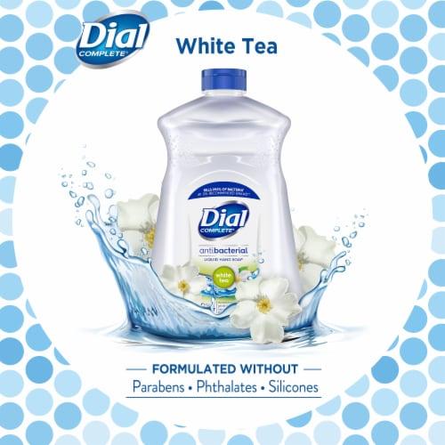 Dial Complete® White Tea and Vitamin E Liquid Soap Refill Perspective: left